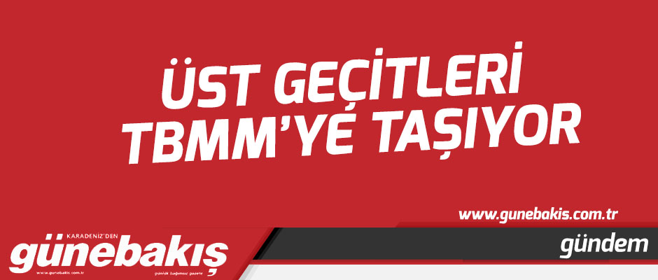 Üst geçitleri TBMM'ye taşıyor