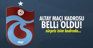 Altay maçı kadrosu belli oldu!
